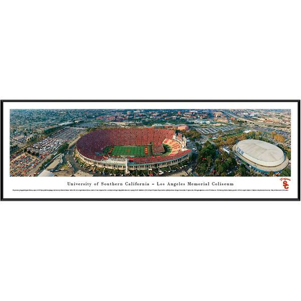 "USC Trojans 13"" x 40"" Los Angeles Memorial Coliseum Aerial Standard Frame Panorama - $99.99"