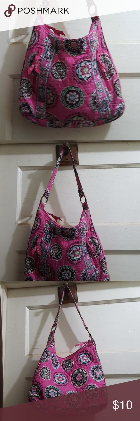 Vera Bradley Medium Hobo Shoulder Bag Cute medium shoulder bag. Pink About 13 x 11 inches. Good condition. Vera Bradley Bags Hobos