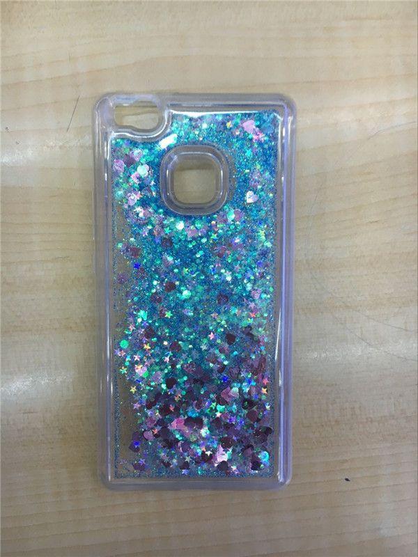 P9 Lite Case Soft TPU Dynamic Liquid Glitter Sand Quicksand Star Back Cover for Huawei P9 Lite Fundas Phone Cases Capa D562