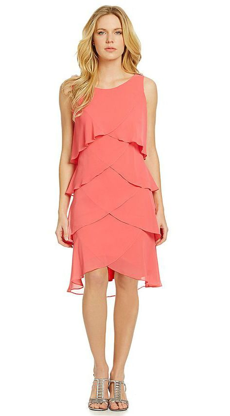 The perfect coral dress for amother of the bride dress for for Plus size coral dress for wedding