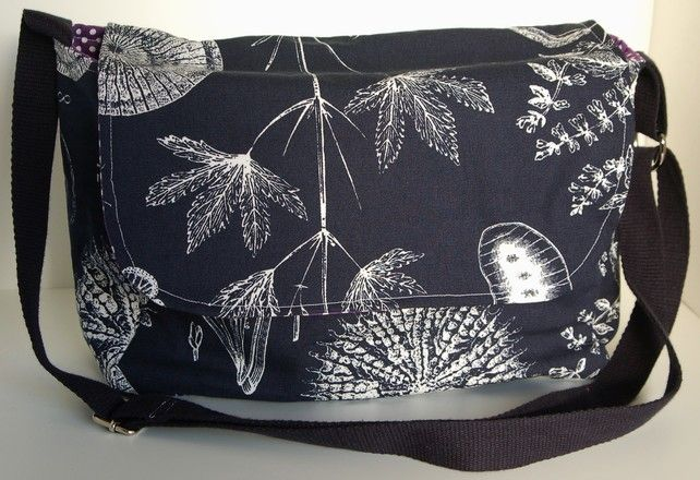 Navy Blue Botanical Print Handbag £25.00