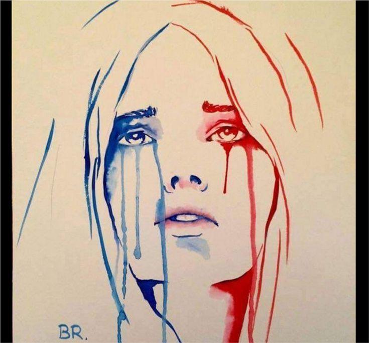 Marianne en pleurs Attentats du vendredi 13 novembre 2015