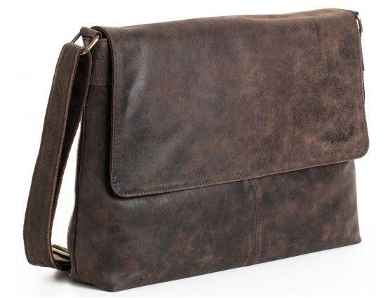 Image of Woodland Leather Large Messenger Bag