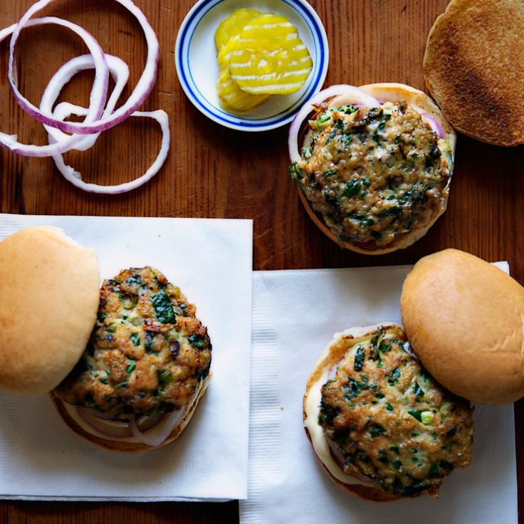 To keep these Turkey-Spinach Sliders juicy, don't pack the meat too tightly.