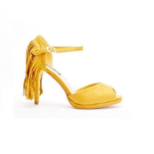 Fringed Heels - Mustard