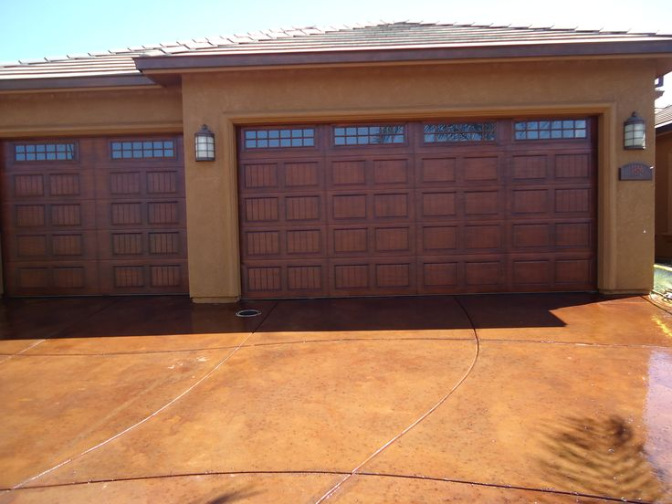 17 Best Images About Exterior Paint Combos On Pinterest: faux wood garage door paint