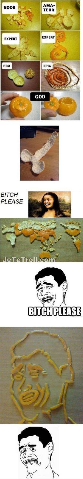 JeTeTroll: Éplucher une orange, tout un art !