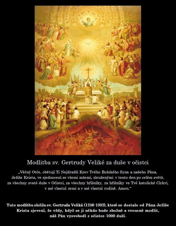 Modlitba svaté Gertrudy Veliké za duše v očistci   SVĚT KOLEM NÁS
