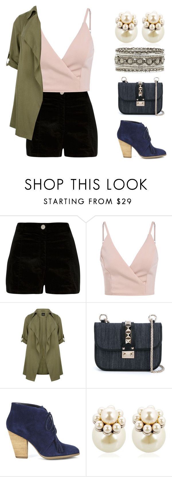 """""""Untitled #130"""" by ctpyp on Polyvore featuring River Island, Valentino, Sole Society, Mawi and Forever 21"""