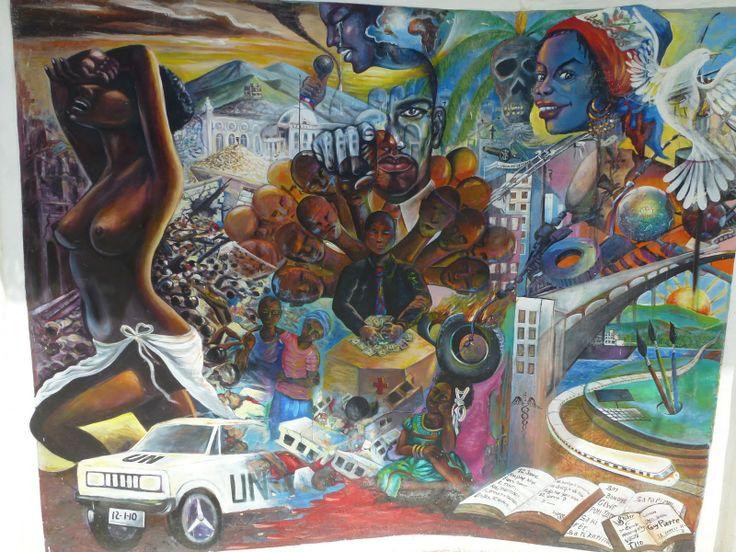 Cette peinture ce trouve près d'une fosse commune et du cimetière de Port-au-Prince. En plus de faire référence au Vaudou cette oeuvre représente bien l'aspect de résistance qui traverse toute l'histoire d'Haïti. Dans ce cas-ci, on peut voir une critique quant à l'intervention des Nations Unies et à l'organisation du pays suite au séisme de 2010, d'où sa présence près du monument à la mémoire de ceux qui n'ont pas survécu à la tragédie.