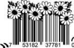 Universal Product Code Art - UPC Barcode Daisy