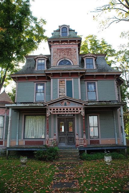 299 best second empire images on pinterest abandoned for Victorian manor house