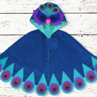 The Peacock Costume Cape | YouCanMakeThis.com