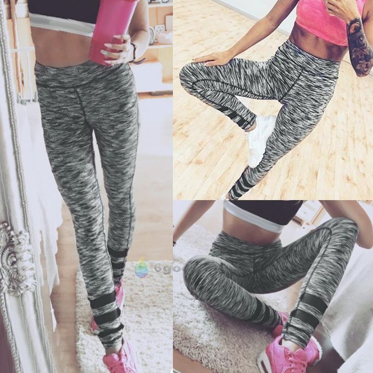 Women YOGA Workout Gym Print Sports Pants Leggings Lady Fitness Stretch Trousers #Unbranded