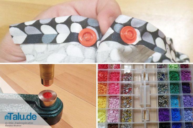 DIY Druckknöpfe anbringen – annähen, einschlagen & Co