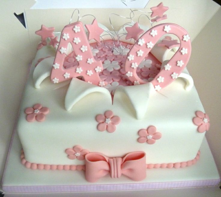 40th Birthday Cakes For Ladies Cake Ideas Women Images 70025