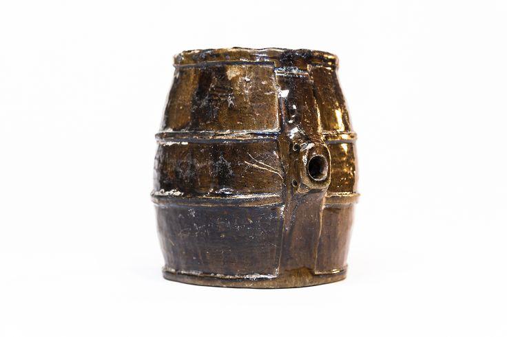 Borraccia-botticella. Terracotta invetriata Marche XX sec.  #fratterosa #concorso #unmuseochecresce #terrecotte #ceramica
