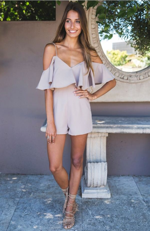 This jumpsuit is casual sexy and perfect to wear on the weekend to the beach or for a day of shopping! See more amazing items at www.fichic.com !