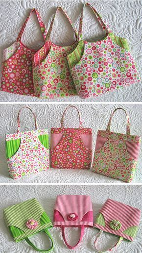 Sewing pretty little things- miniature bags. Click through to find out a few tip…