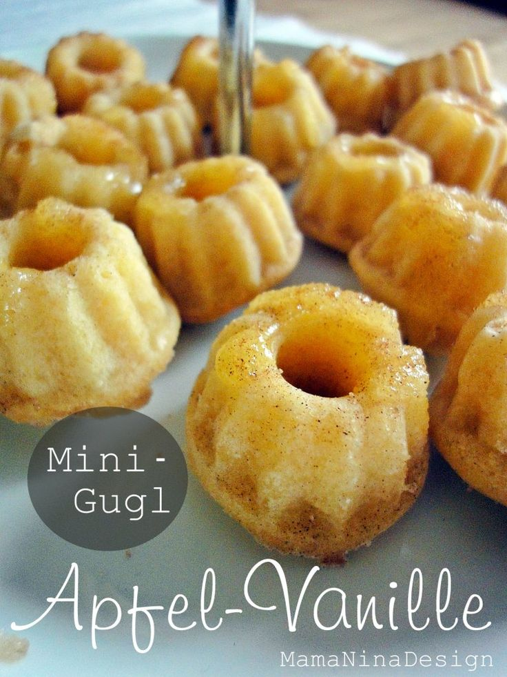 Apfel-Vanille MiniGugl mit Karamell