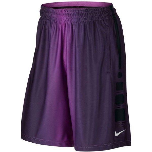 Nike Men's Elite Dri-fit Basketball Shorts ($55) ❤ liked on Polyvore featuring men's fashion, men's clothing, men's activewear, men's activewear shorts, court purple, mens activewear shorts and mens activewear
