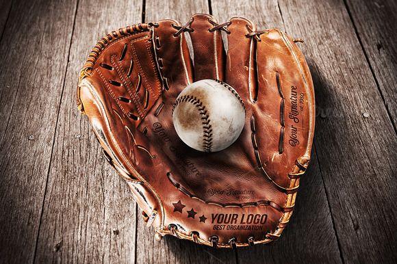 Baseball Glove - Mockup by VectorMedia on @creativemarket
