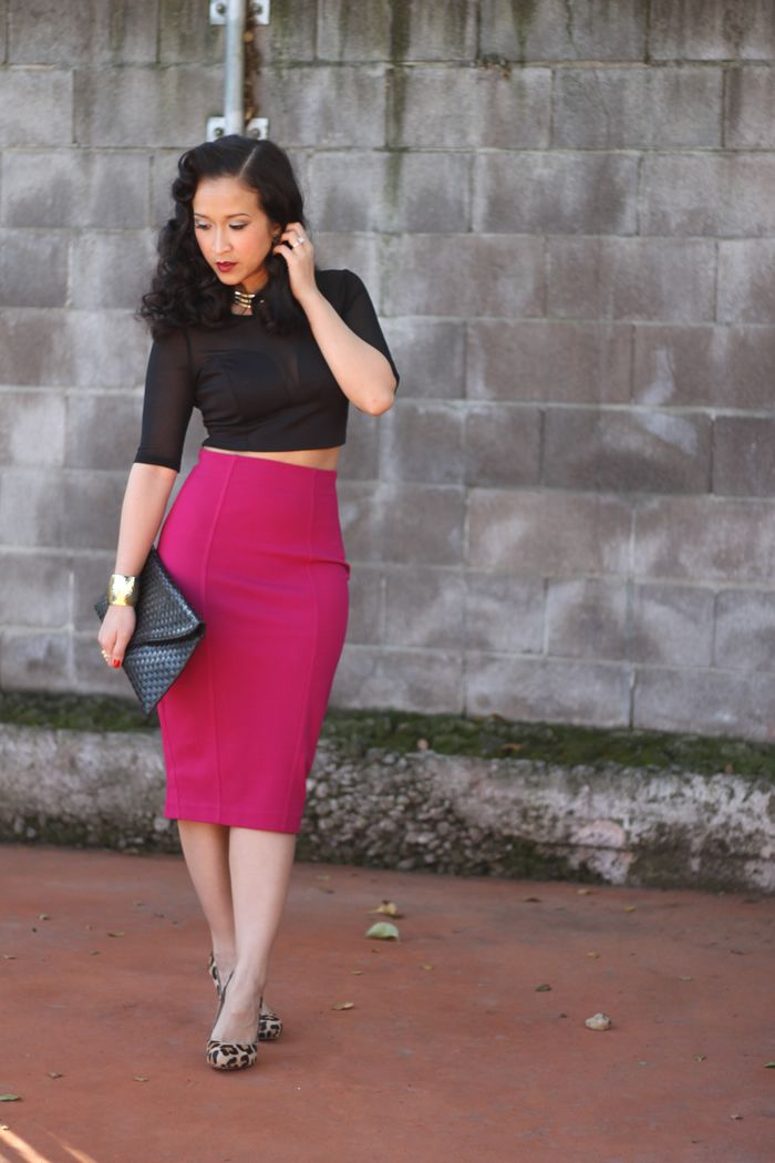 1746ed452c Crop Top // High Waisted, Knee Length, Pencil Skirt// Heels // Clutch<3  (put my own twist on this.) | Stuff to Buy | Fashion, 2014 fashion trends,  Style