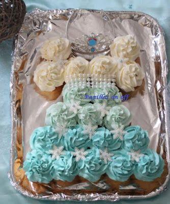 Papilles on/off: Gâteau de cupcakes en forme de robe de princesse R...