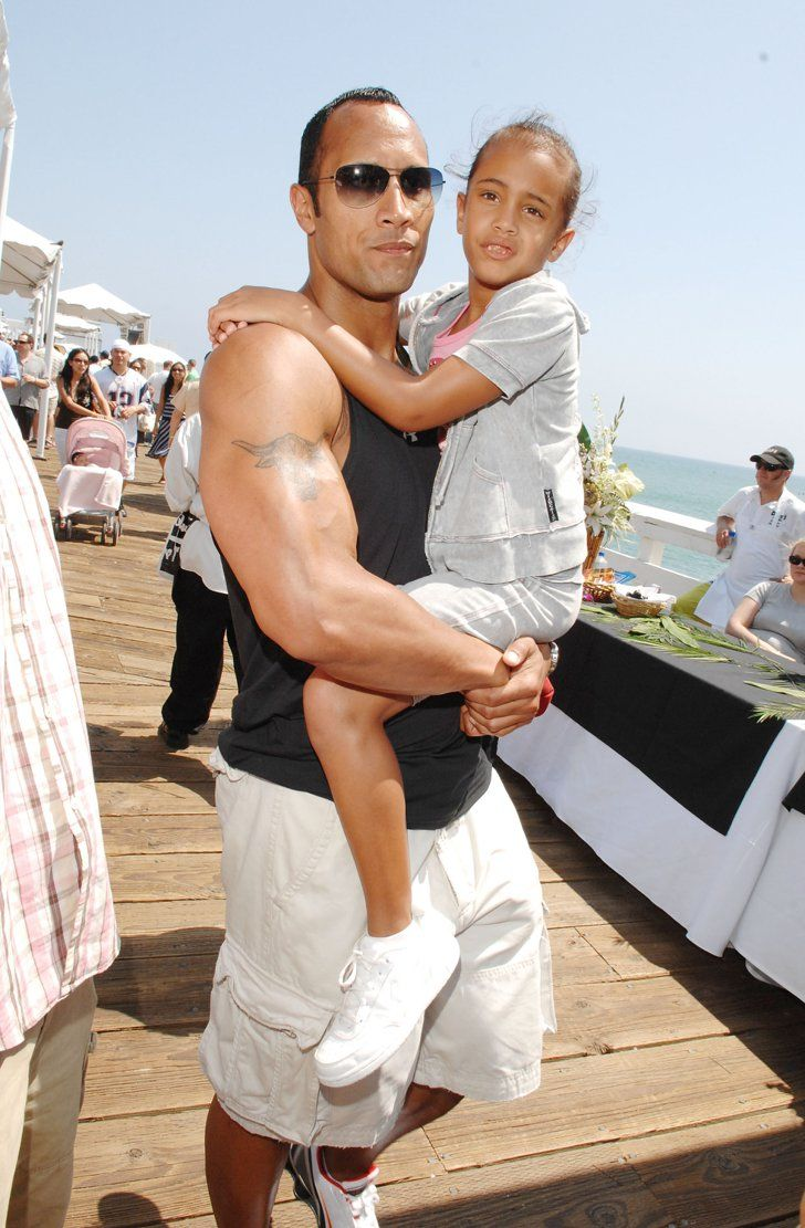 "Pin for Later: 13 Moments Between ""The Rock"" and His Daughter That Prove Their Bond Is One of a Kind"