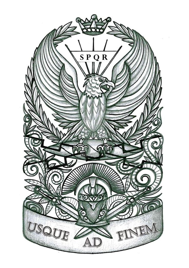 Roman Eagle Tattoo by thehoundofulster on DeviantArt