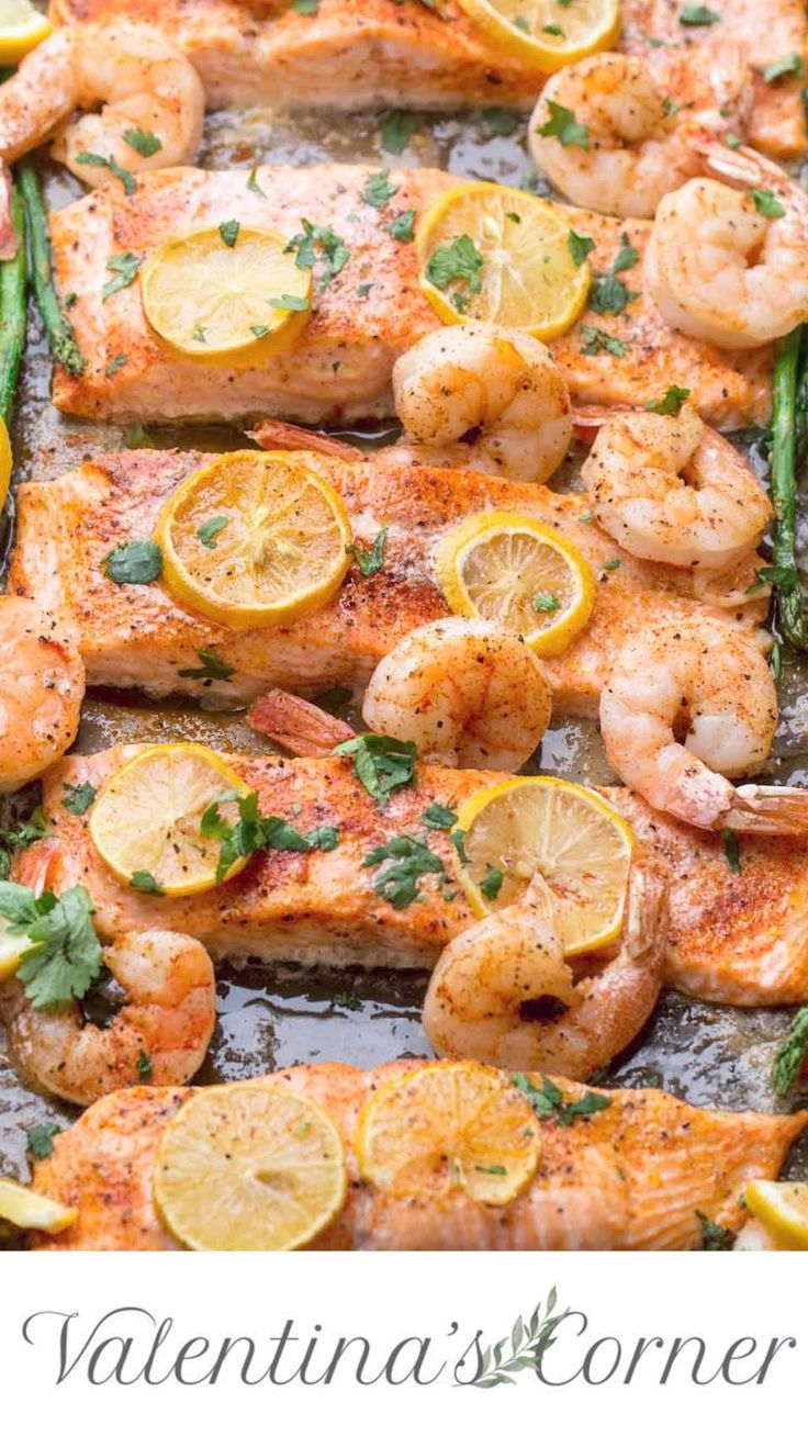 Easy Baked Shrimp Salmon Recipe. A quick one-pan m…