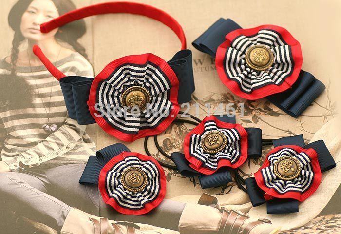 Британский стиль ленты с бантом повязка на голову / заколки для волос бутик бигуди для девочек дети волосы комплект аксессуаров, принадлежащий категории Аксессуары для волос и относящийся к Детские товары на сайте AliExpress.com | Alibaba Group