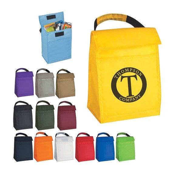 100 Insulated Lunch Cooler Bags Personalized with Custom Logo, Price Includes Cooler Bag With One Color Imprint
