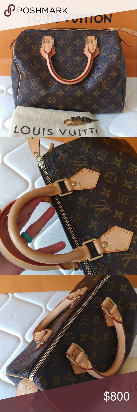 Louis Vuitton Speedy 25 Authentic Louis Vuitton speedy 25 in monogram Excellent condition Comes with dustbag and keylock and tags Made in USA Date code: SD0065 No smell Light patina  No trade Accept 🅿️ or Circle or squarecash Louis Vuitton Bags Satchels