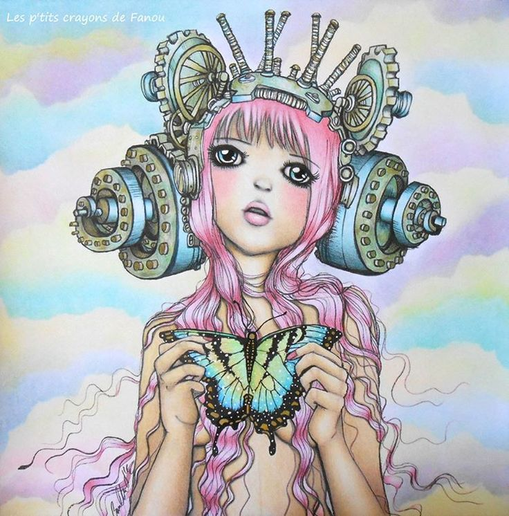 Coloring Books Adult Colouring Avant Guard Manga Art Color Creative Crayons Calm