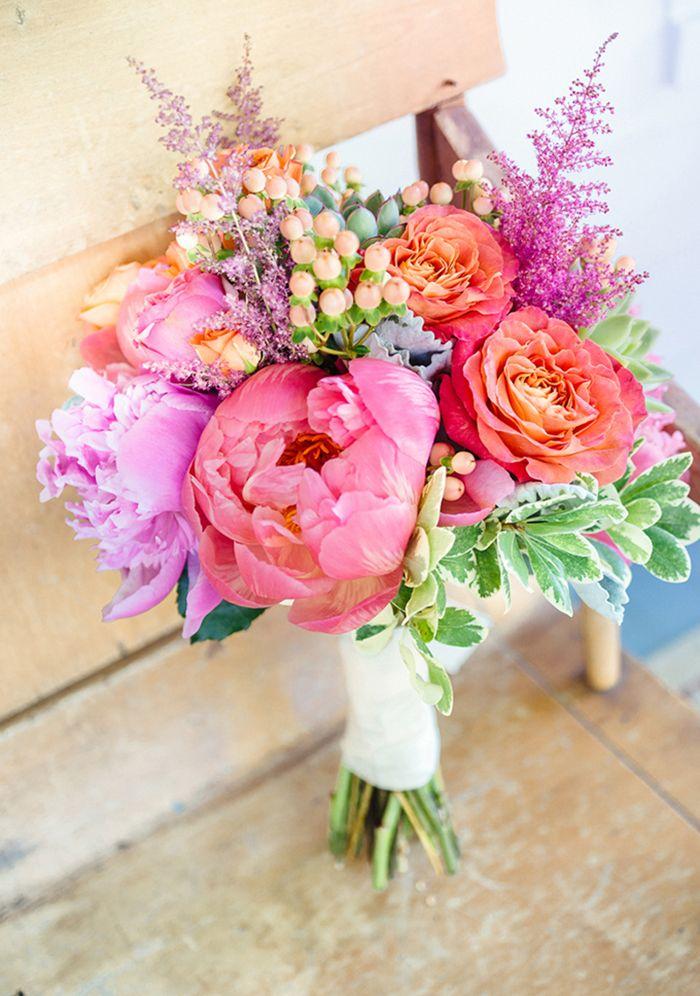 Brautsträuße mit pinken Pfingstrosen | Hochzeit