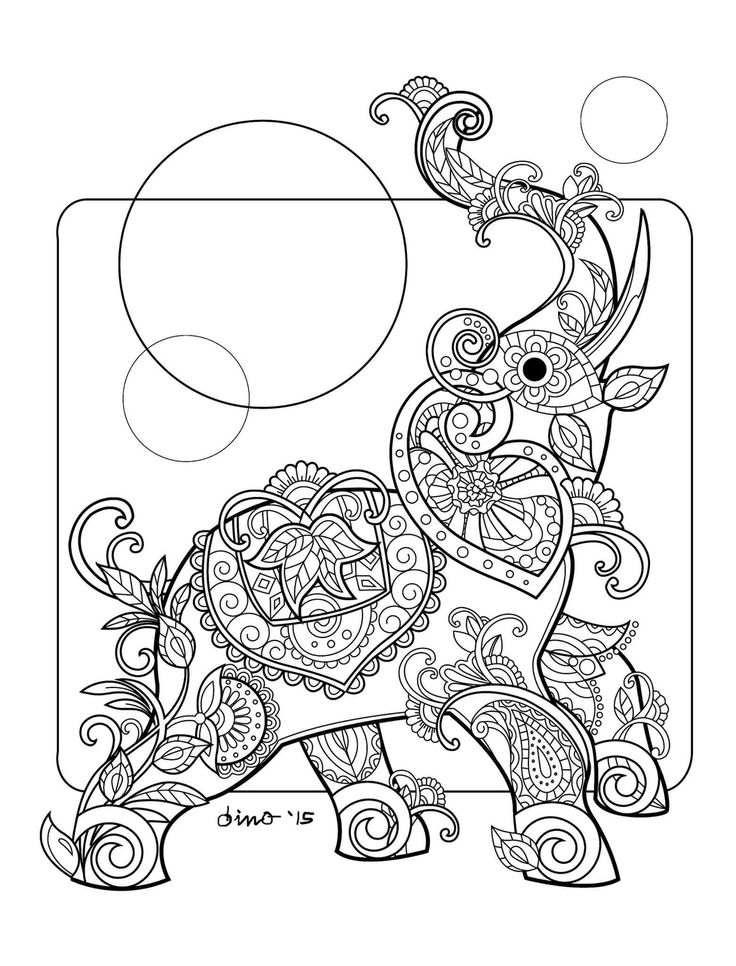 The 135 best Coloring: Elephants images on Pinterest | Elephant ...