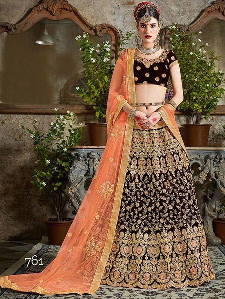 Indian Pakistani Bollywood Designer Wedding Bridal Party Asian Lehenga Choli Set
