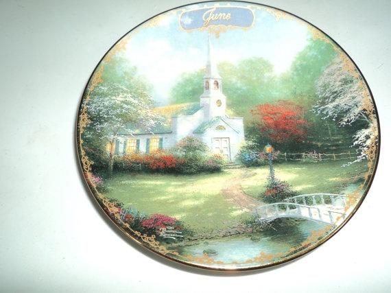 Thomas Kinkade Plate of the Month - June - want & 35 best Thomas Kinkade Plates images on Pinterest | Dishes Thomas ...