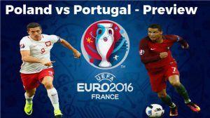 live coverage of Thursday's Euro 2016 quarter-final match between Poland and Portugal. Euro 2016 Poland vs. Portugal
