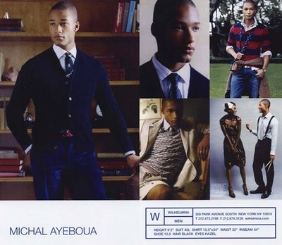 Samples of Male Model Comp Cards