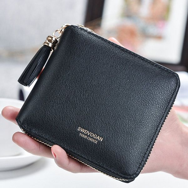 6 Card Slots Women Pu Leather Wallet Coins Bag Credit Card Holders - US$7.91