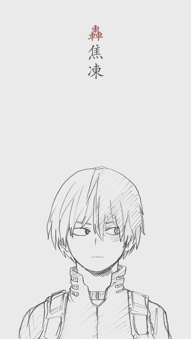 Todoroki Shouto Anime Drawings Boy Anime Character Drawing Hero Wallpaper