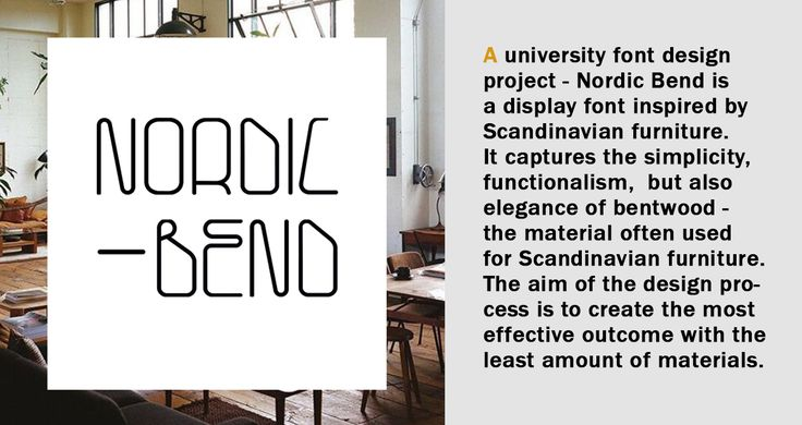 """Check out my @Behance project: """"Nordic Bend - Font Design"""" https://www.behance.net/gallery/49988355/Nordic-Bend-Font-Design"""