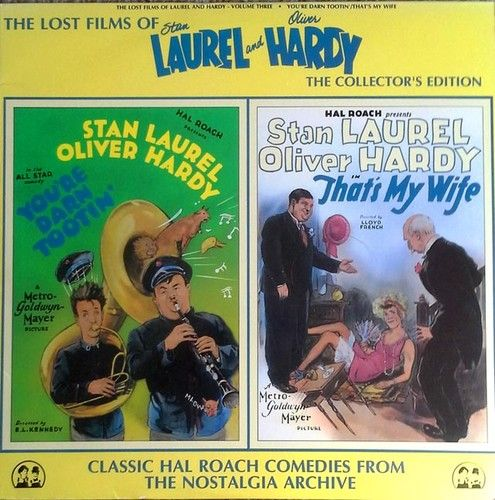 LAUREL AND HARDY - LOST FILMS OF - NOSTALGIA ARCHIVE - ONE SIDED LASER DISC