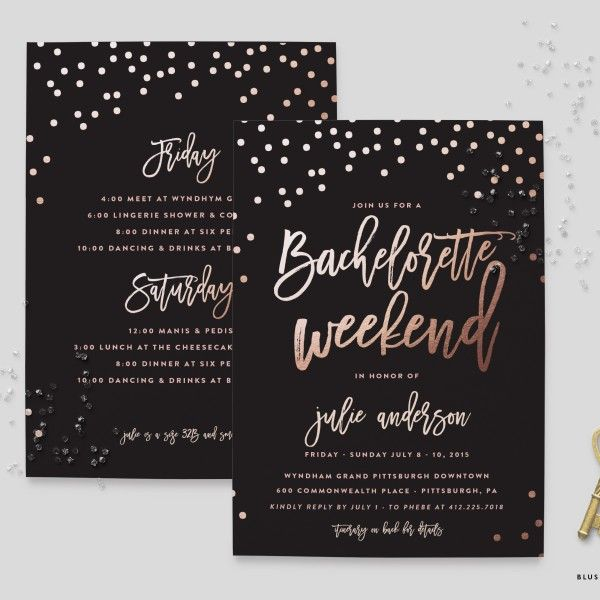 Bachelorette Weekend Party Invitation