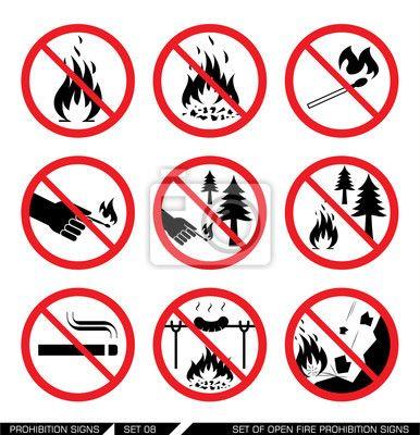 Znalezione obrazy dla zapytania znaki zakazu lesie
