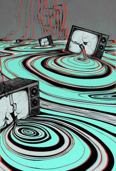.:.:.:.:.:.psychedelic art.:.:.:.:.:.  always loved pictures of televisions in disrepair.