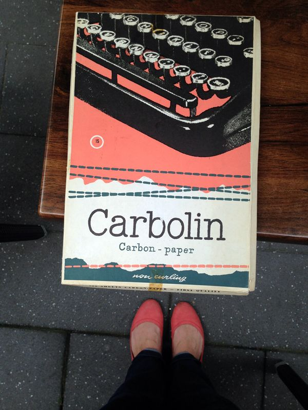 vintage packaging, carbon paper! With a great image from a typewriter.