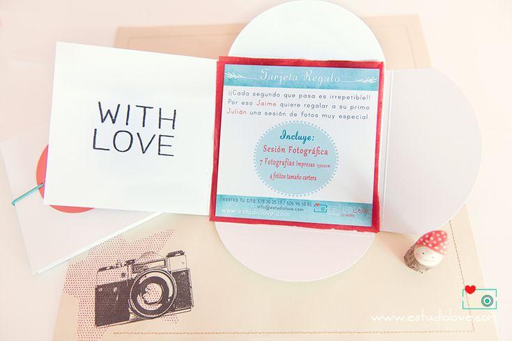 Tarjeta regalo fotografías, with love, regalo embarazada, regalo bebé, regalo fotos, www.estudiolove.com
